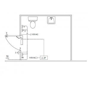 Barrier Free Washroom w/electric locking